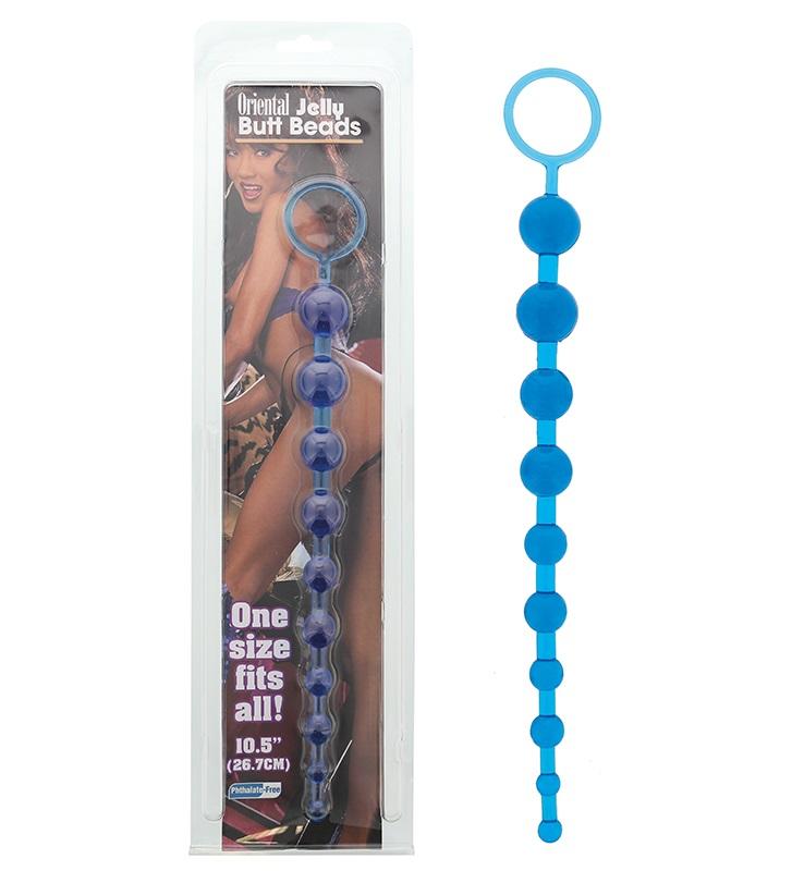 """t110500 - Анальная цепочка """"Blue Oriental Butt Beads"""""""
