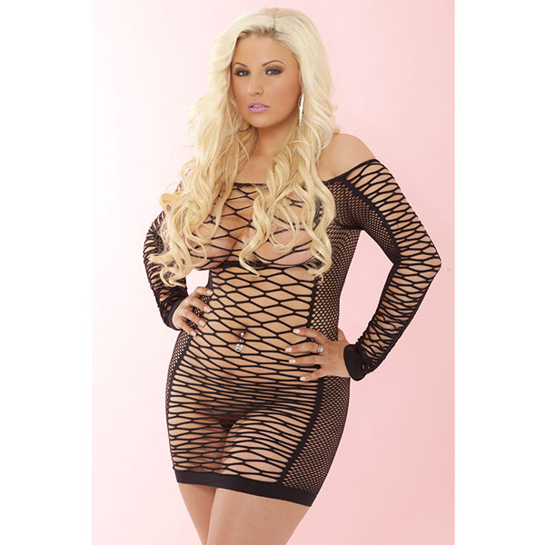 "pl225006XBLK - Платье ""Pink Lipstick"""