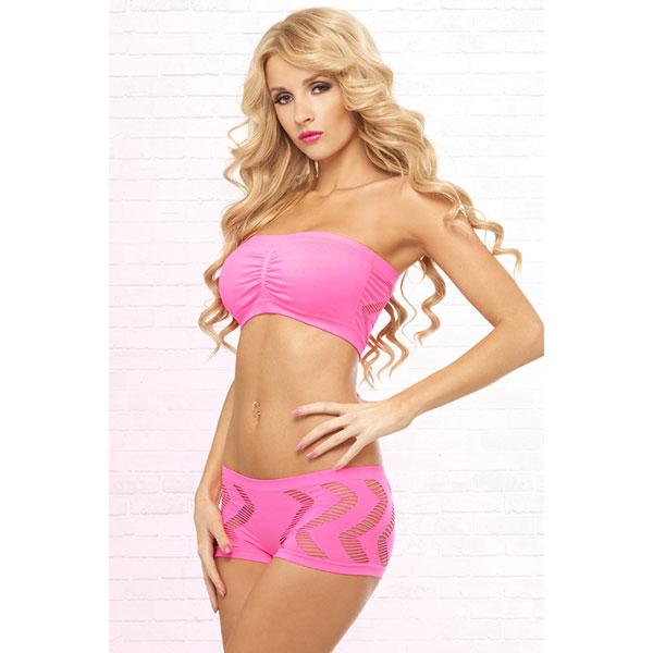 "pl225057PNK - Комплект белья ""Pink Lipstick"""