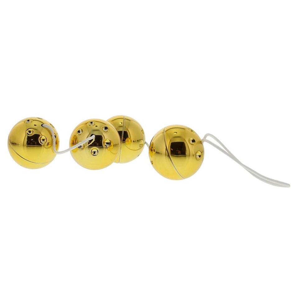 """dd50177 - Вагинальные шарики """"Gold Vibro Balls"""""""