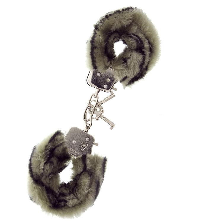 """t160029 - Наручники """"Zebra Furry Love Cuffs"""""""