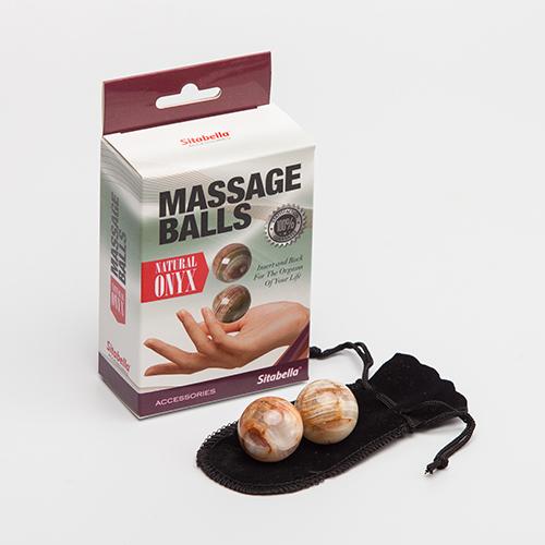 """sk8006 - Вагинальные шарики """"Massage Balls Onyx"""""""
