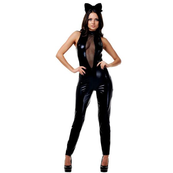 """ki02802SM - Игровой костюм """"Чёрная Кошка"""""""