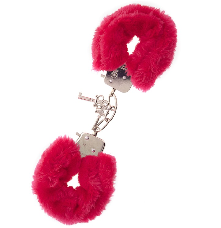 "t160028 - Наручники ""Red Furry Love Cuffs"""