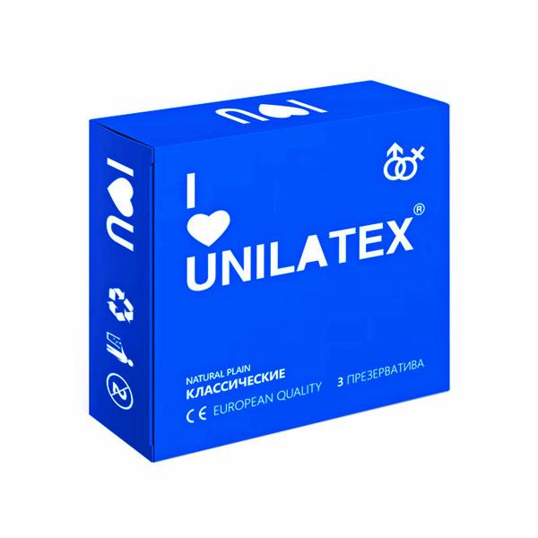"con90006 - Презервативы ""Unilatex Natural Plain"", 3 шт."