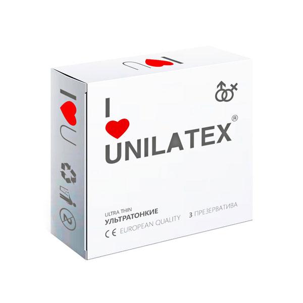 "con90008 - Презервативы ""Unilatex Ultrathin"", 3 шт."
