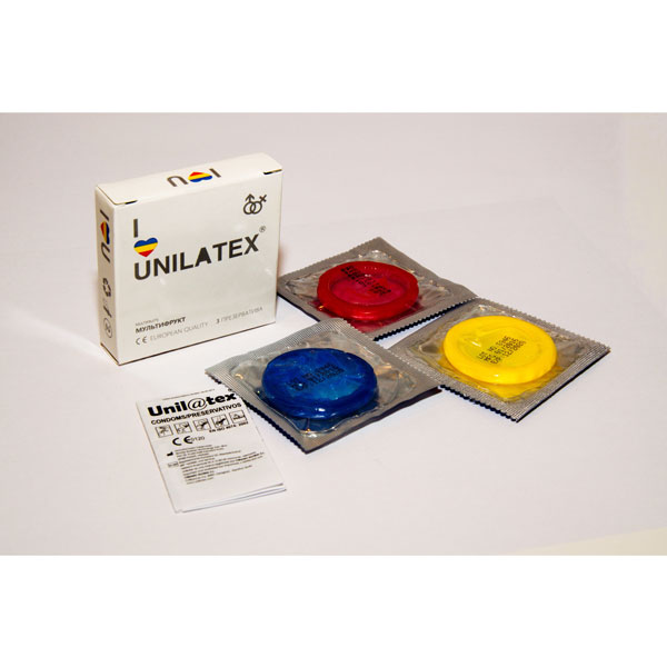 "con90007 - Презервативы ""Unilatex Multifruits"", 3 шт."