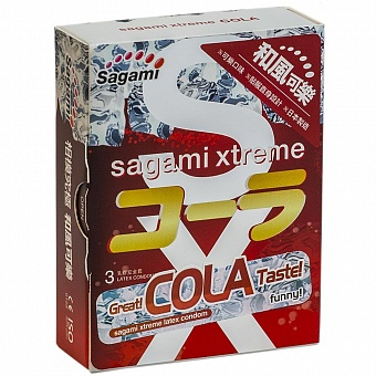 "con00002 - Презервативы ""Sagami Xtreme Cola"", 3 шт."