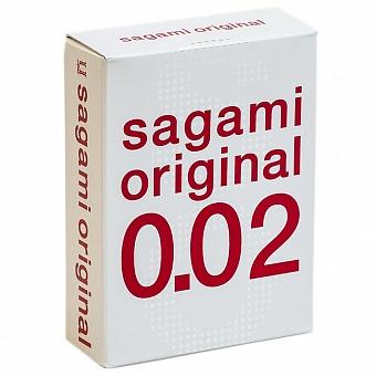 """con11579 - Презервативы """"Sagami Original 0.02"""", 3 шт."""