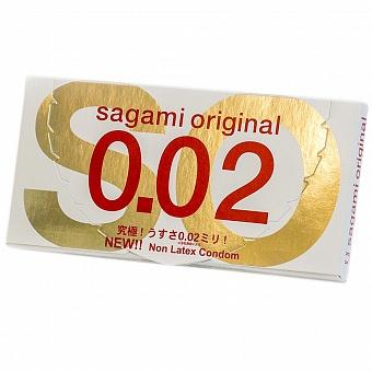 """con00133 - Презервативы """"Sagami Original 0.02"""", 2 шт."""