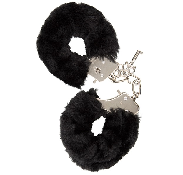 "t520052 - Наручники ""GP Black Furry Cuffs"""