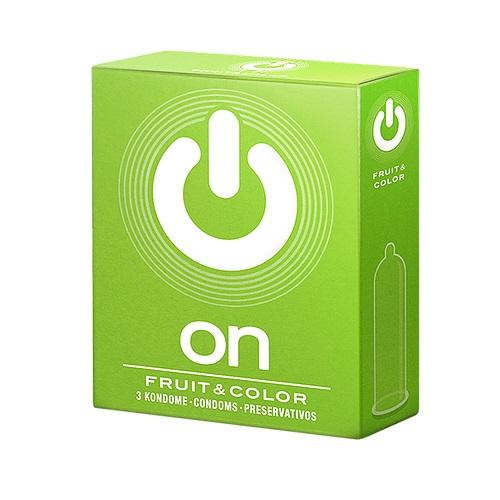 """con80017 - Презервативы """"On Fruit & Color"""", 3 шт."""