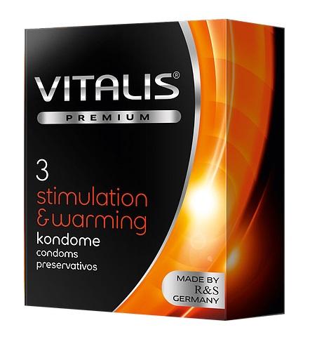 """con80036 - Презервативы """"Vitalis Premium Stimulating & Warming"""", 3 шт."""