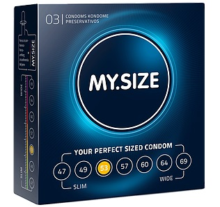 "con80010 - Презервативы ""My.Size 53"", 3 шт."
