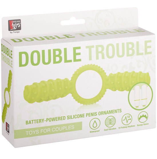 "dd20566 - Эрекционное кольцо ""Double Trouble"""