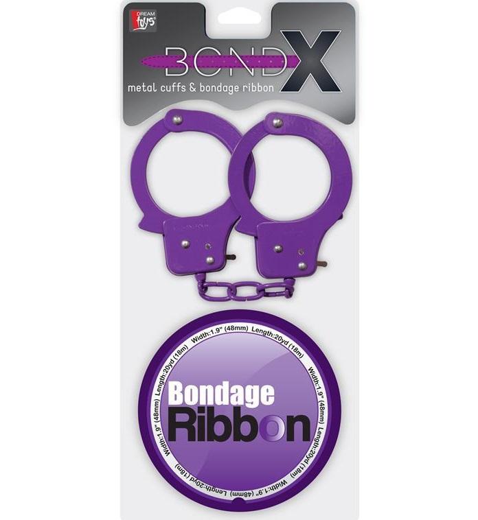 "dd21002 - Наручники и лента ""Bondx Metal Cuffs and Ribbon"""