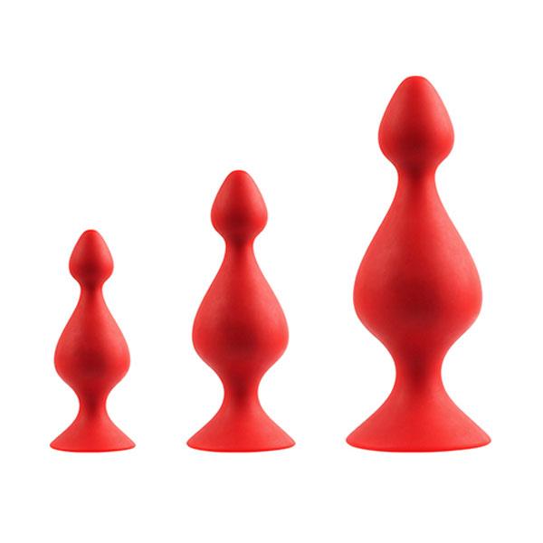 "dd21282 - Набор массажеров ""Menzstuff 3-Piece Anal Pawn Set"""