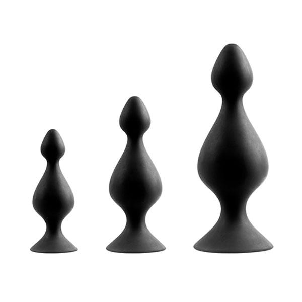 "dd21283 - Набор массажеров ""Menzstuff 3-Piece Anal Pawn Set"""