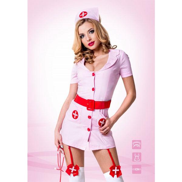 ki02211ML - ki02211ML Похотливая медсестра розовая (M/L)