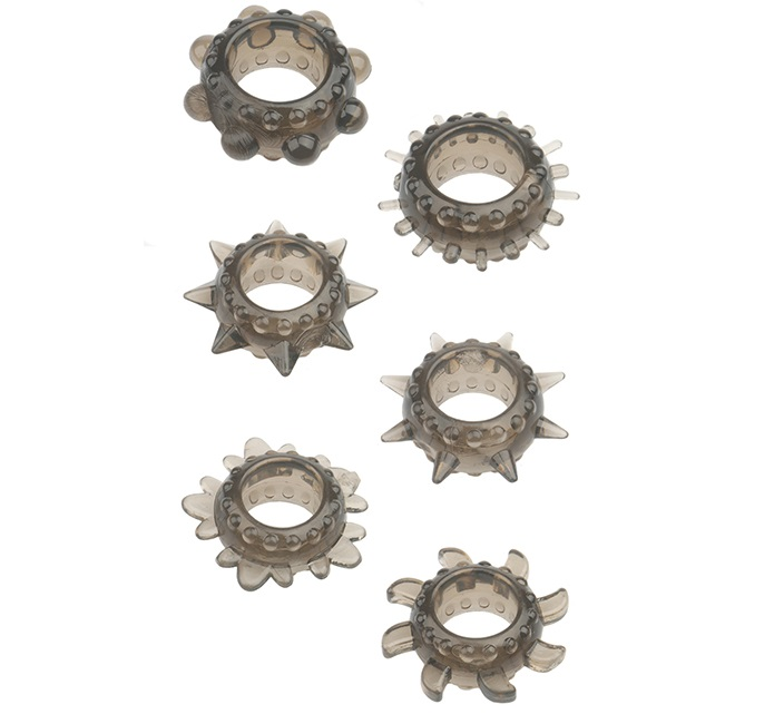 "dd21177 - Набор колец ""Menzstuff 6pc Strecheable Ring"""