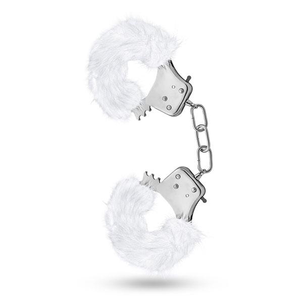 t330931 - t330931 Наручники из листового металла с мехом белого цвета, совместно с ключами