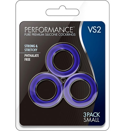 t331023 - t331023 Набор синих эрекционных колец: 3 шт, силикон, 3.2cm