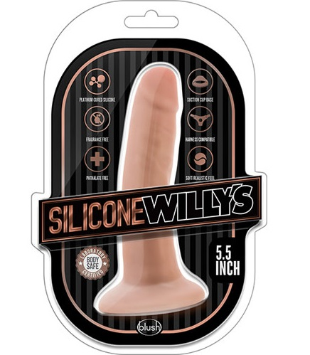 "t331012 - Фаллоимитатор ""Silicone Willys 5.5' Dildo Vanilla"""