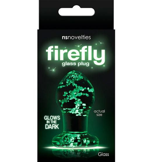 "t280467 - Анальная пробка ""Firefly Glass Plug Small Clear"""
