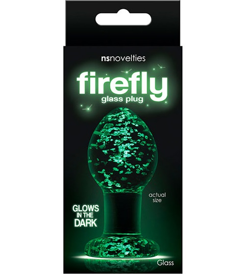 "t280468 - Анальная пробка ""Firefly Glass Plug Medium Clear"""