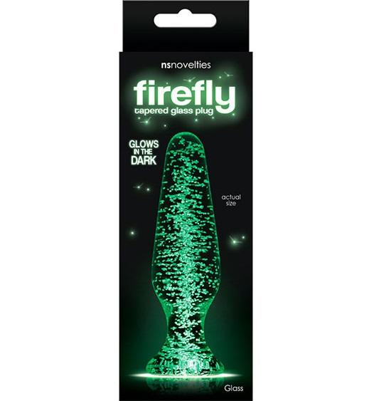 "t280470 - Анальная пробка ""Firefly Glass Tapered Plug Clear"""